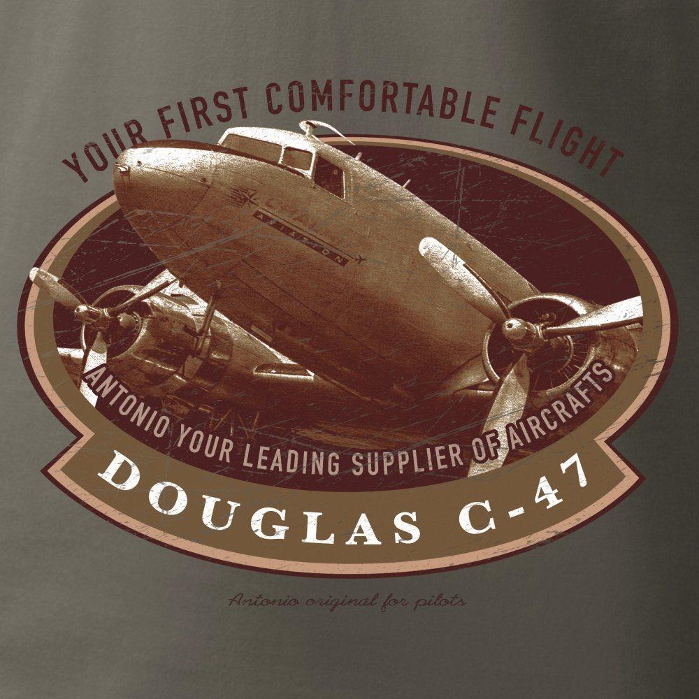 Tričko DOUGLAS C-47 SKYTRAIN ŠEDOZELENÉ ANTONIO® 011405 L-11