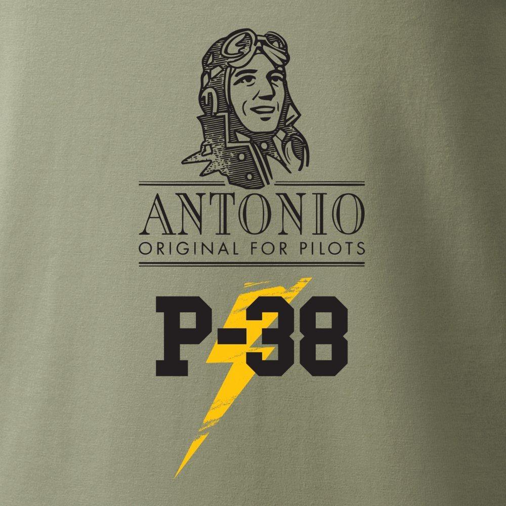 Tričko P-38 LIGHTNING ZELENÉ ANTONIO® 02139194 L-11