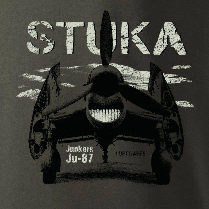 Tričko Junkers Ju-87 STUKA SIVOZELENÉ ANTONIO® 0214501 L-11