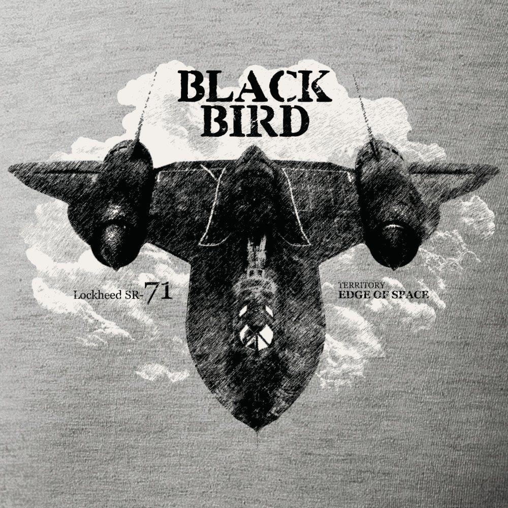 Tričko Lockheed SR-71 BLACKBIRD SIVÉ ANTONIO® 0214511 L-11
