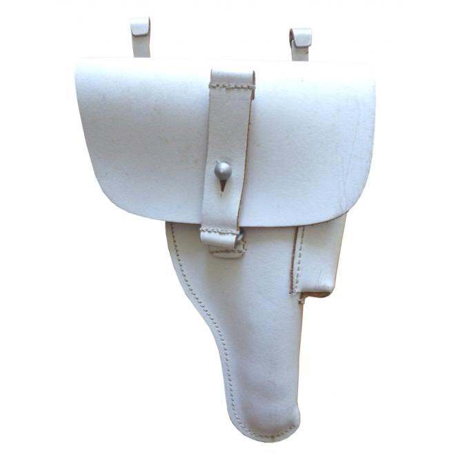 Púzdro pištolové BW  P1 (P38) kožené BIELE použité