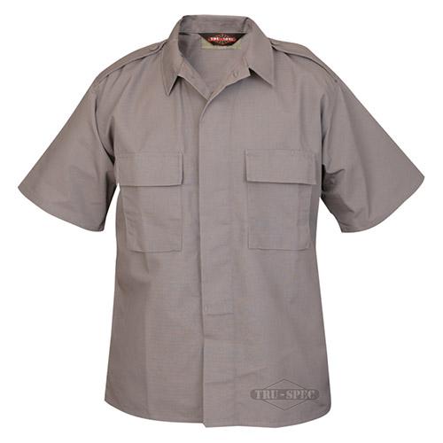 Košeľa služobná krátky rukáv rip-stop SIVÁ