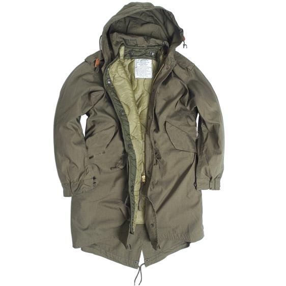 Bunda US M65 FISHTAIL s vložkou a kapucí OLIV TEESAR® 10122101 L-11