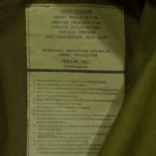 Bunda US M65 NYCO TEESAR OLIV TEESAR® 10311001 L-11
