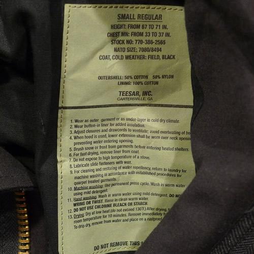 Bunda US M65 NYCO TEESAR ČIERNA TEESAR® 10311002 L-11