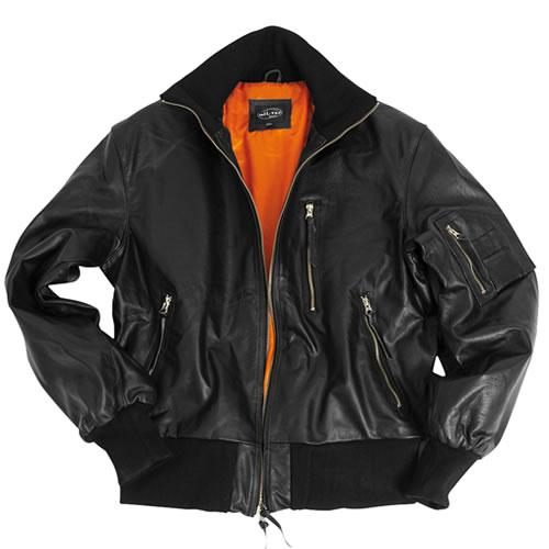 Bunda kožená BW AVIATOR ČIERNA MIL-TEC® 10461002 L-11