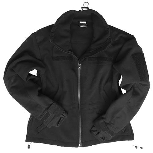 Bunda WINDPROOF fleece ČIERNA MIL-TEC® 10856102 L-11