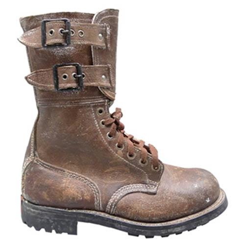 Topánky francúzske WWII kožené HNEDÉ