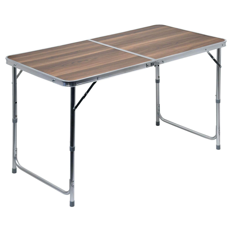 Stôl skladací kempingový - doska umakart imitácia dreva