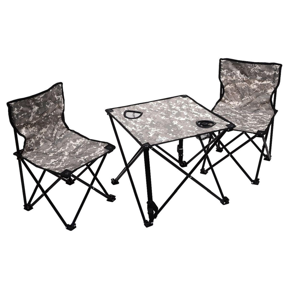 Kempingový set detský / stôl + 2x stoličky / AT-DIGITAL