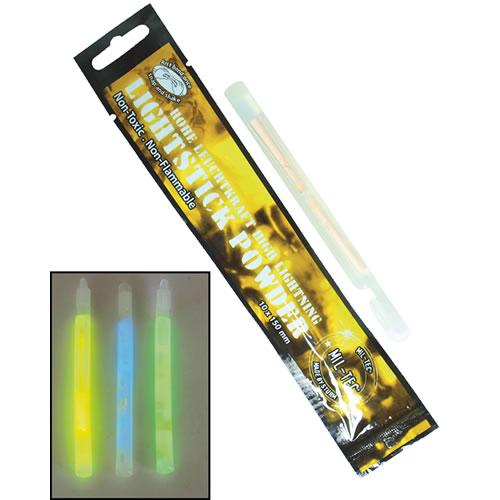 Svetlo chemické POWDER 10x150 svietivosť až 24h MODRÉ