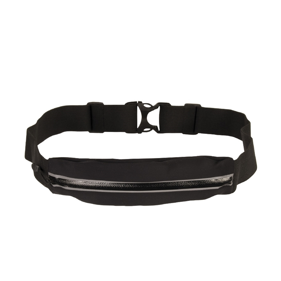 Peňaženka s opaskom LYCRA® úzka so zipsom čierná