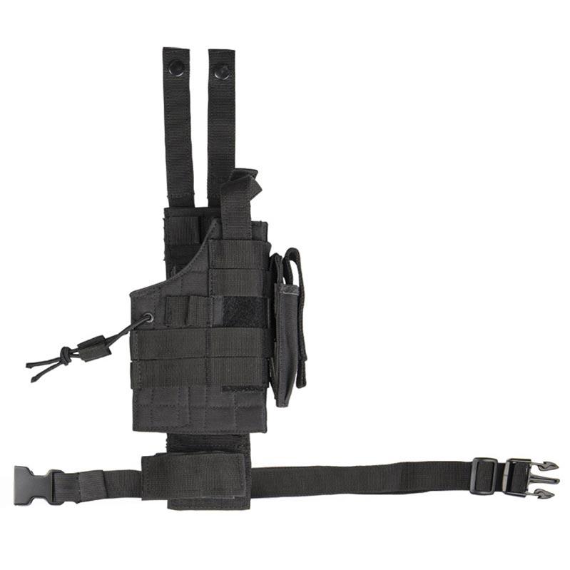 Puzdro pre pištoľ na stehno obojstranné US MODULAR ČIERNE