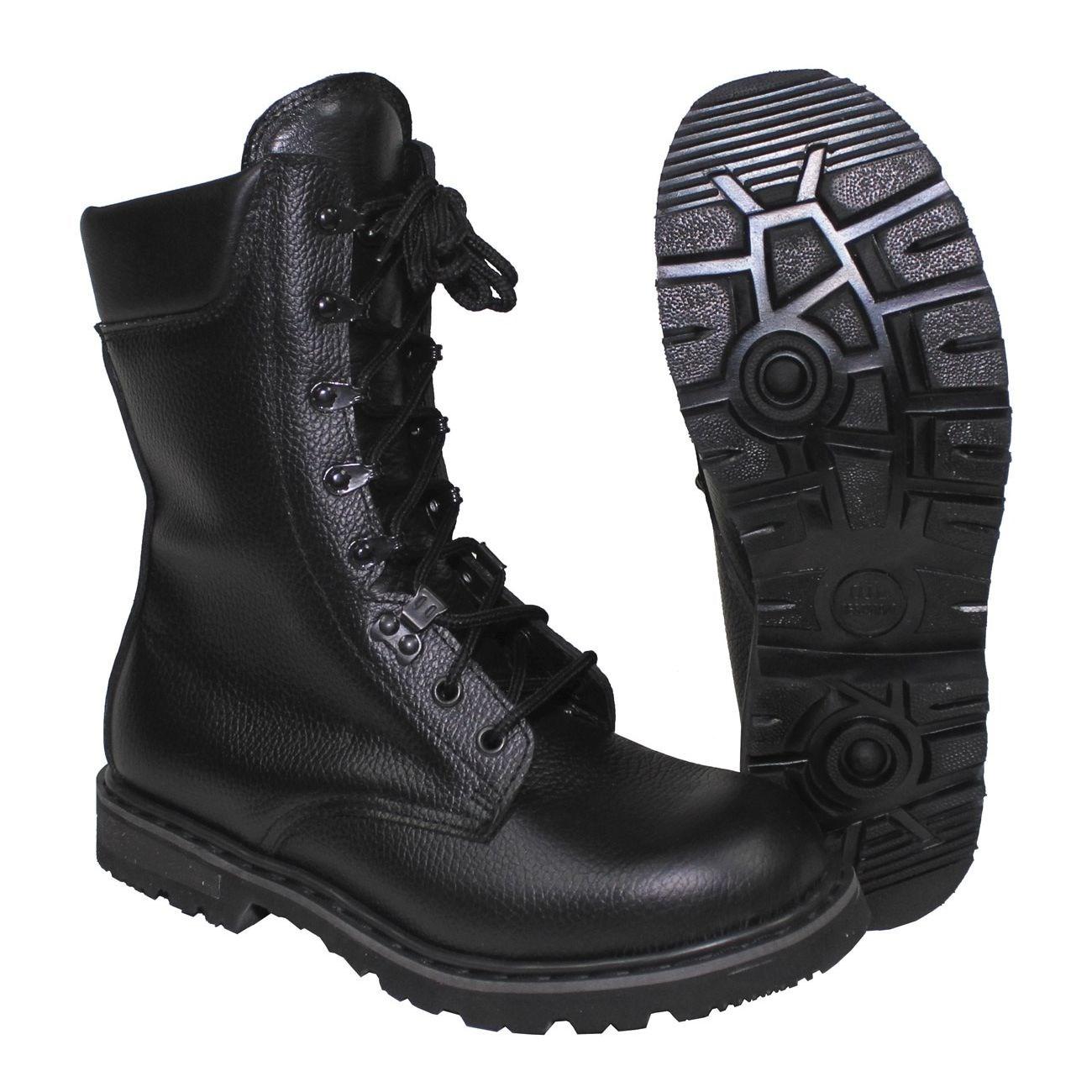 Topánky holandské bojové kožené ČIERNE