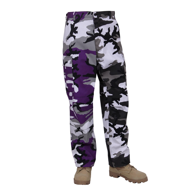 Nohavice dvojfarebné BDU VIOLET/CITY CAMO