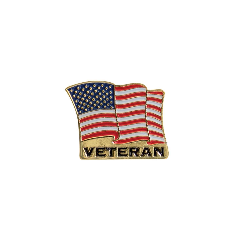 Odznak VETERAN vlajka USA