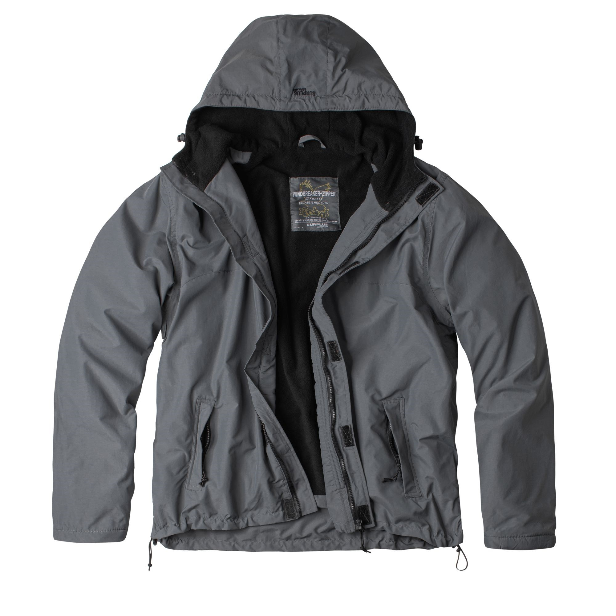 Bunda WINDBREAKER ZIPPER ŠEDÁ SURPLUS 20-7002-04 L-11