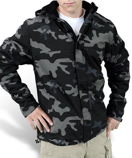 Bunda WINDBREAKER ZIPPER BLACK CAMO SURPLUS 20-7002-42 L-11