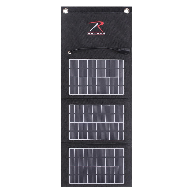 Nabíjačka solárna USB skladacia MOLLE ČIERNA