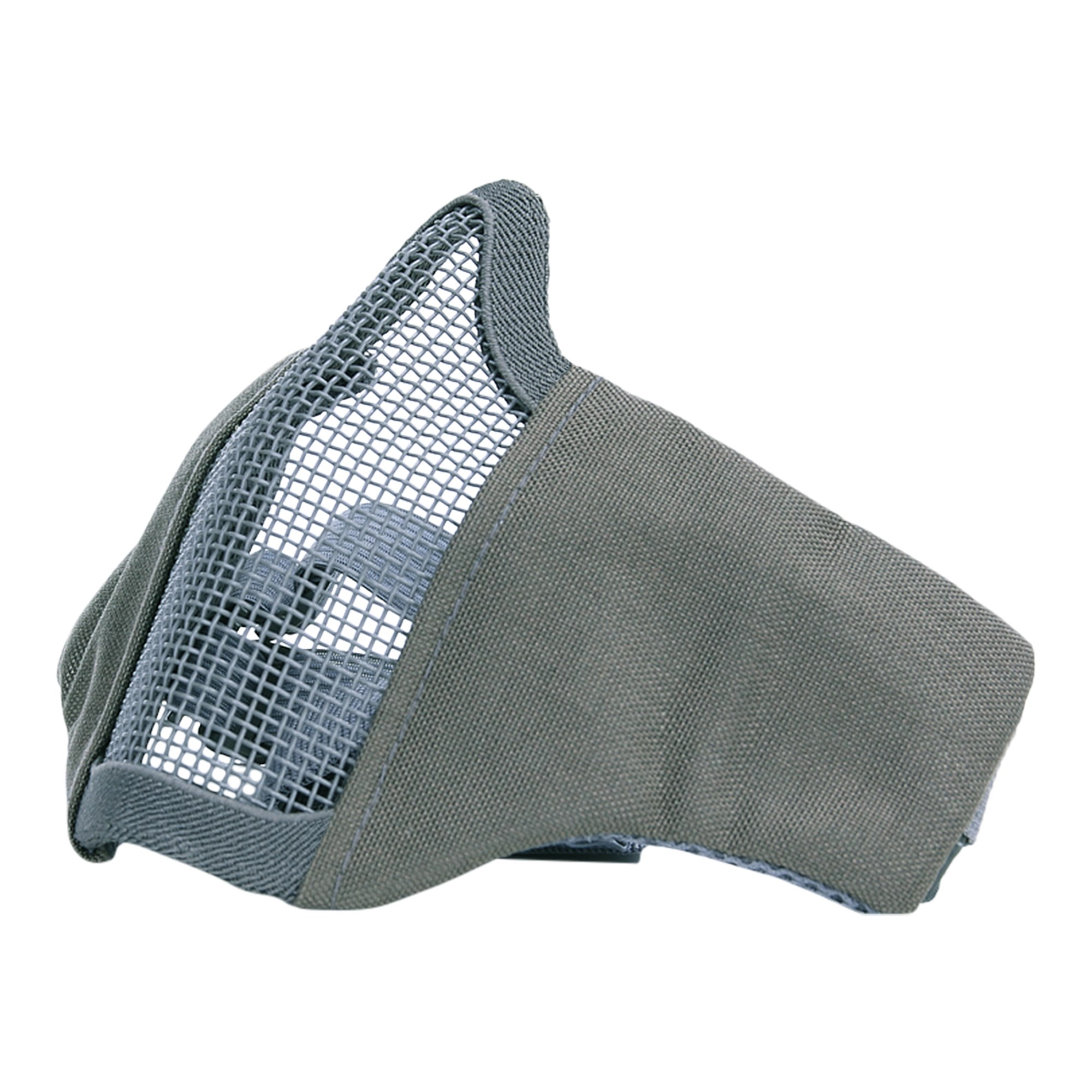 Maska AIRSOFT ochranná s mriežkou SIVÁ