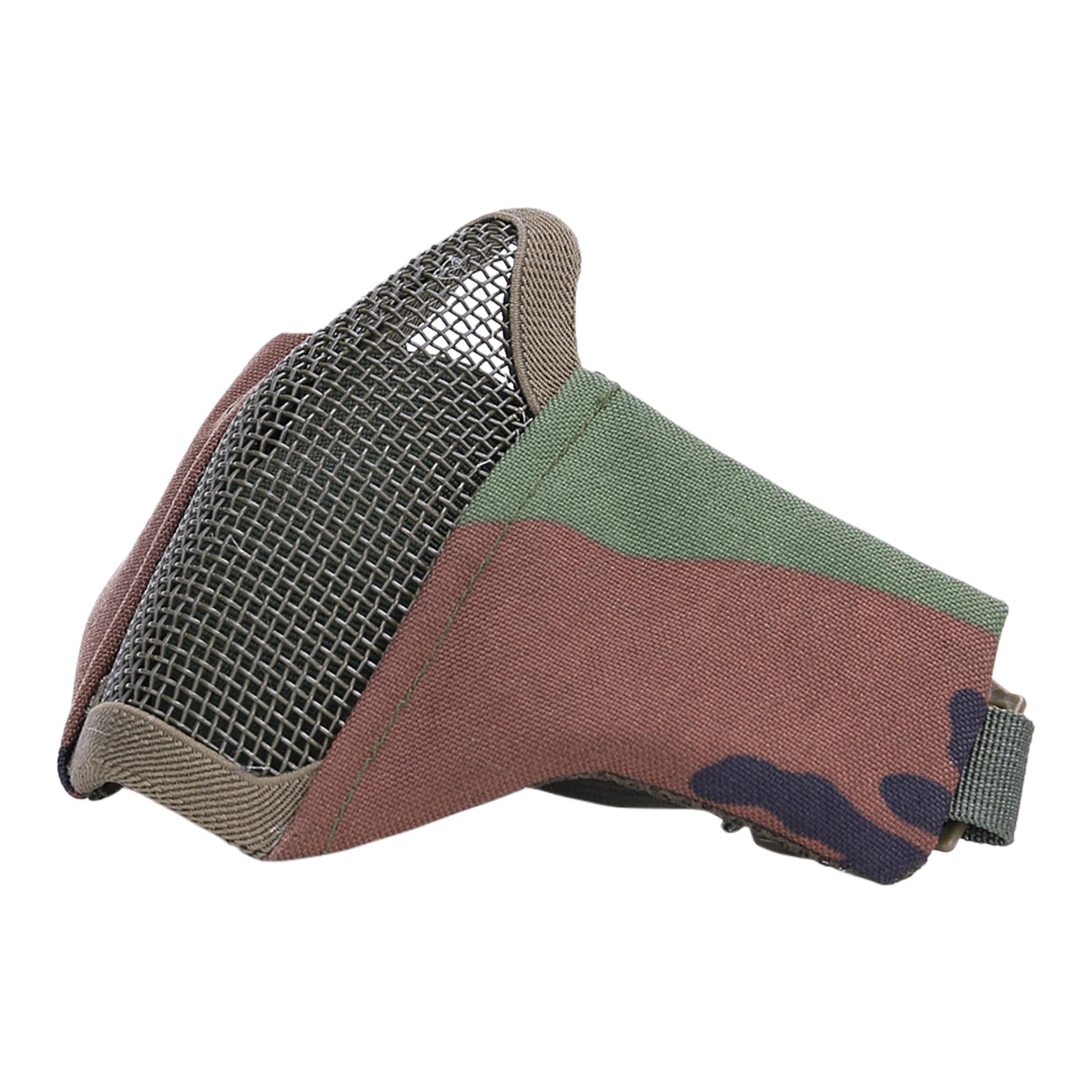 Maska AIRSOFT ochranná s mriežkou WOODLAND
