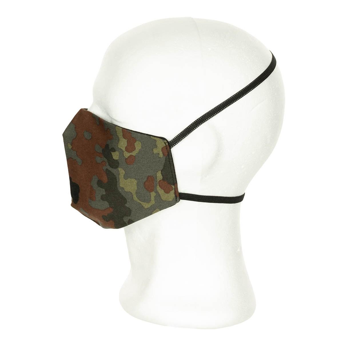 Rúška pre zakrytie úst a nosa maskovaná flecktarn