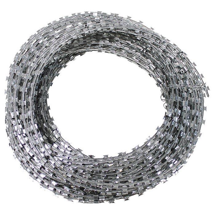 Drôt žiletkový 50m / 10m pozinkovaný