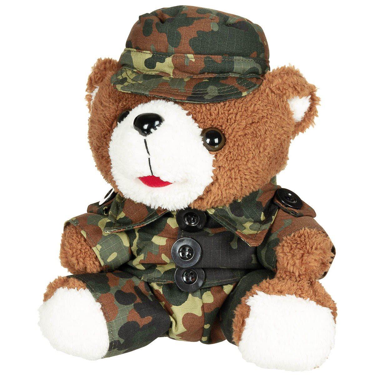 Medvedík plyšový v oblečení 28 cm FLECKTARN