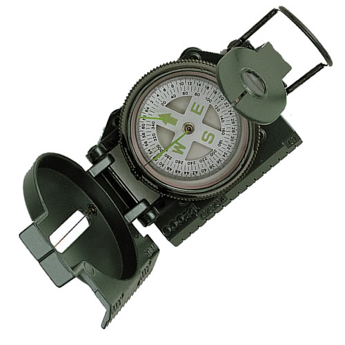 Kompas US kovové telo ZELENÝ import