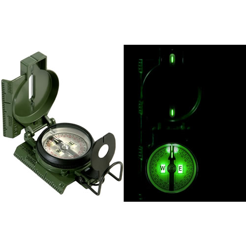 Kompas US model 3H TRITIUM s púzdrom OLIV originál