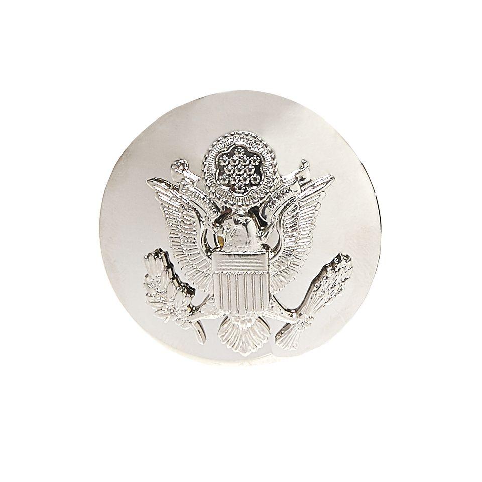 Odznak US AIR FORCE OFFICER čiapkový STRIEBORNÝ
