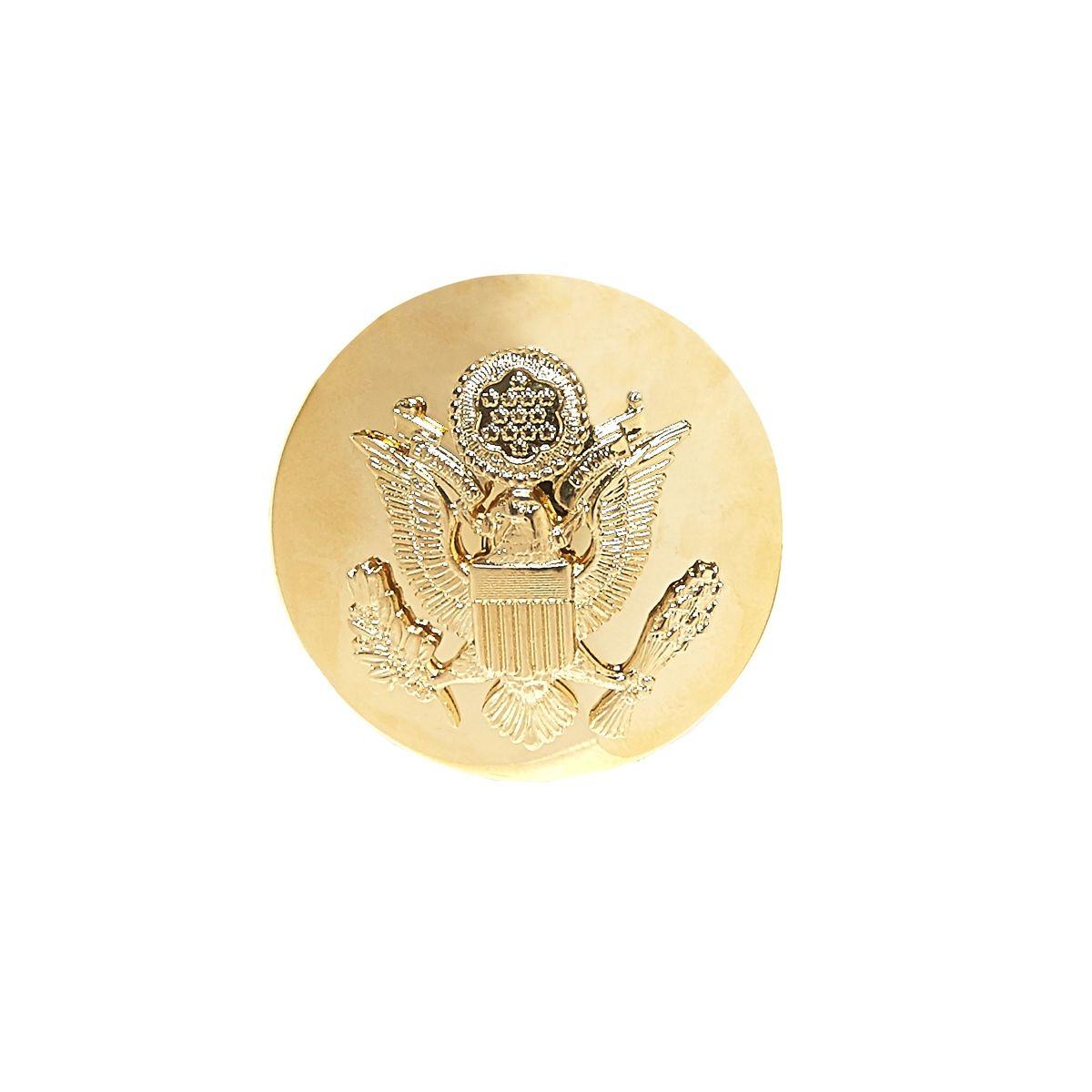 Odznak US ARMY čiapkový guľatý ZLATÝ