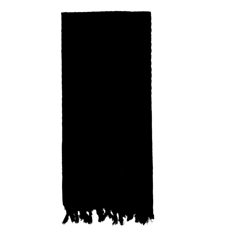 Šatka SHEMAG odľahčená ČIERNA 105 x 105 cm