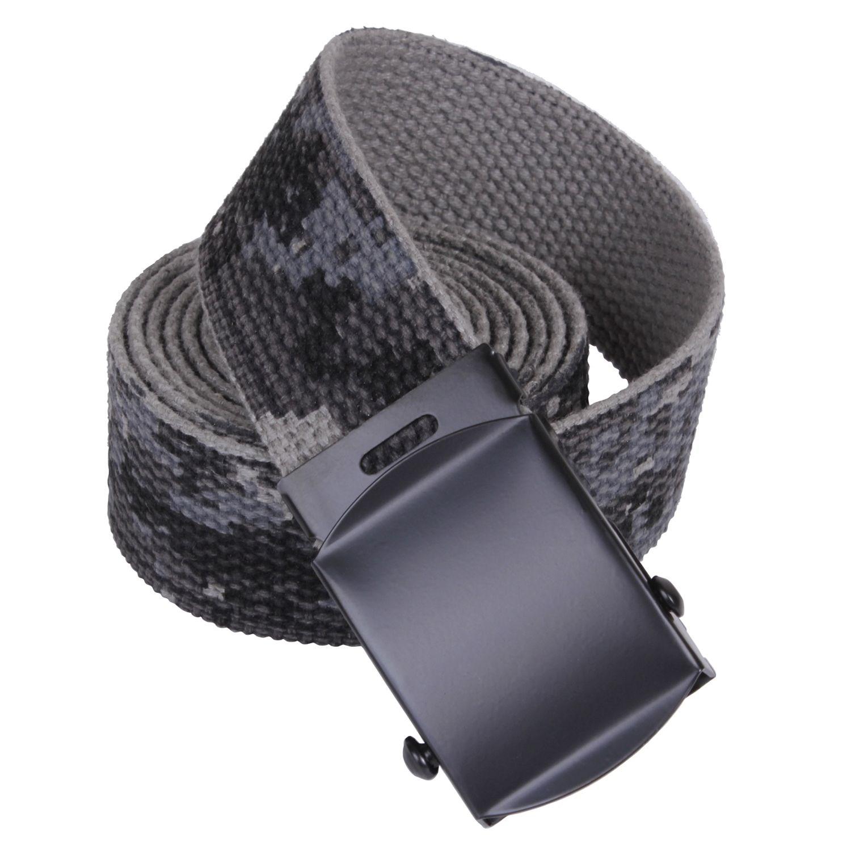 Opasok US nohavicový s čiernou sponou URBAN DIGITAL dl. 135 cm
