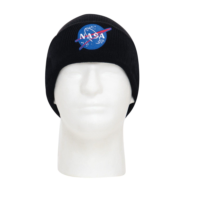 Čiapka pletená NASA Deluxe ČIERNA