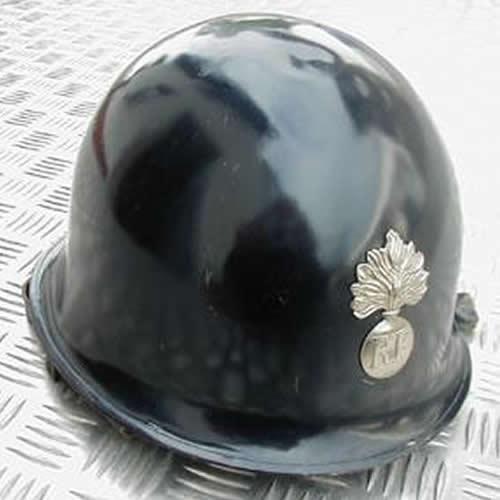 Prilba RF francúzska odznak MODRÁ použitá