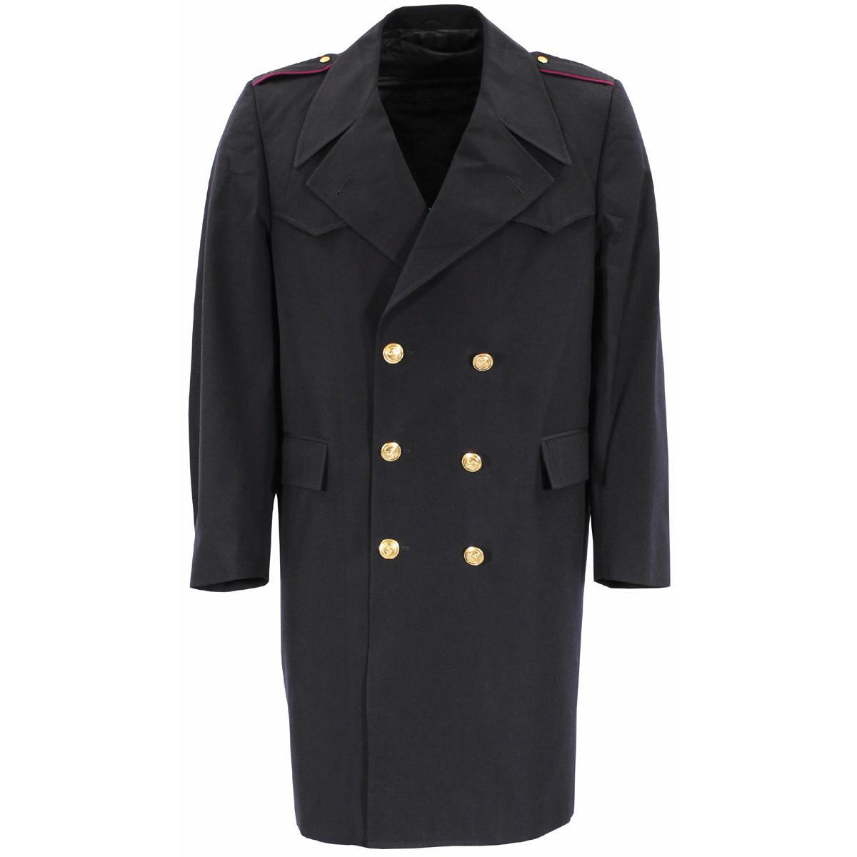 Kabát taliansky MARINE dvojradové zapínanie MODRÝ Armáda Talianska 609240 L-11