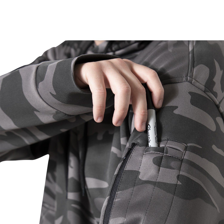 Mikina CONCEALED CARRY s kapucňou BLACK CAMO ROTHCO 6135 L-11
