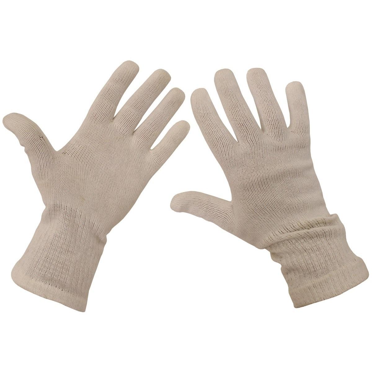 Rukavice prstové AČR pletené biele
