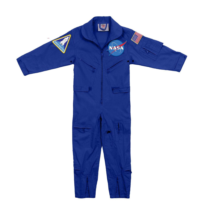 Kombinéza detská NASA s nášivkami MODRÁ