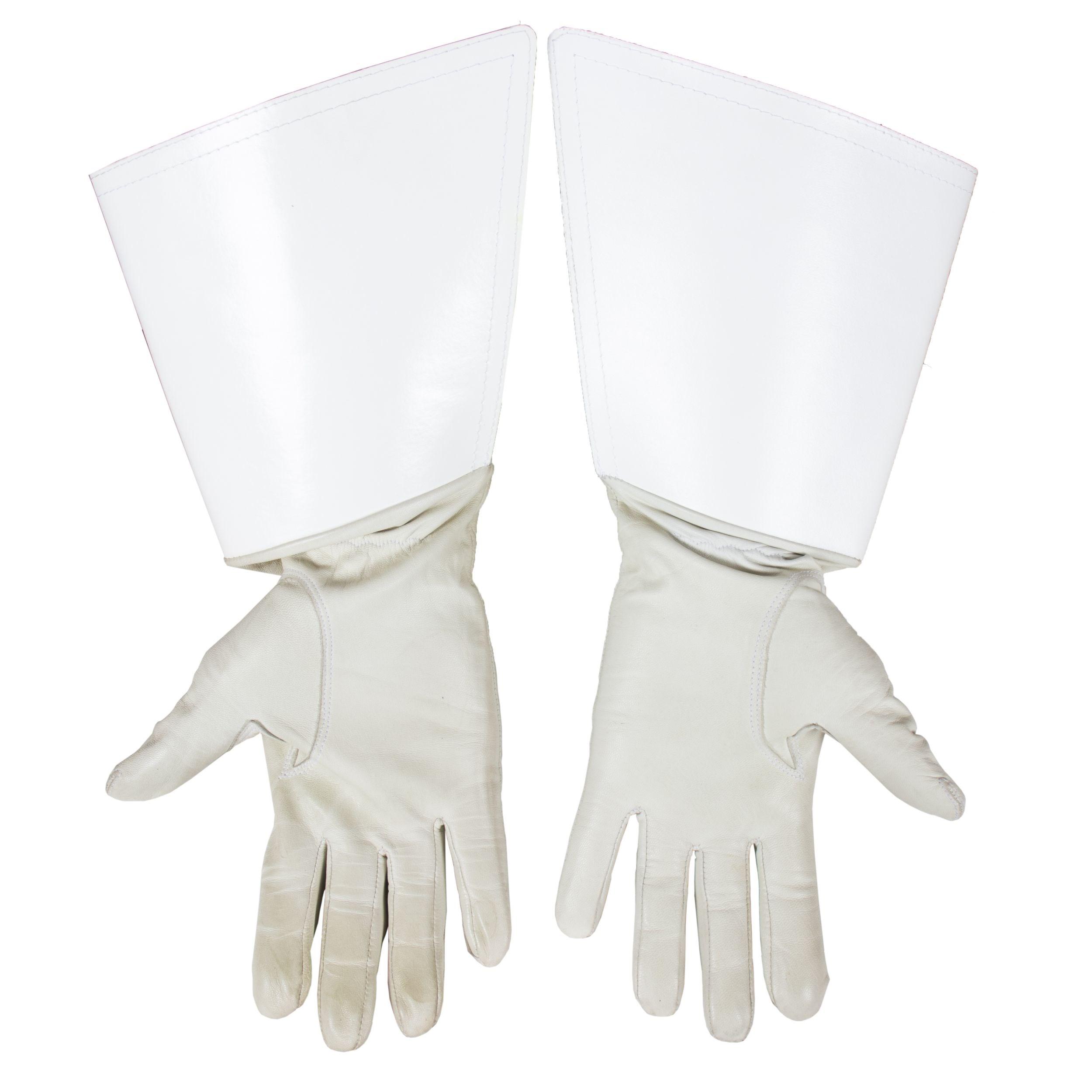 Rukavice pre regulovčíkov kožené biele