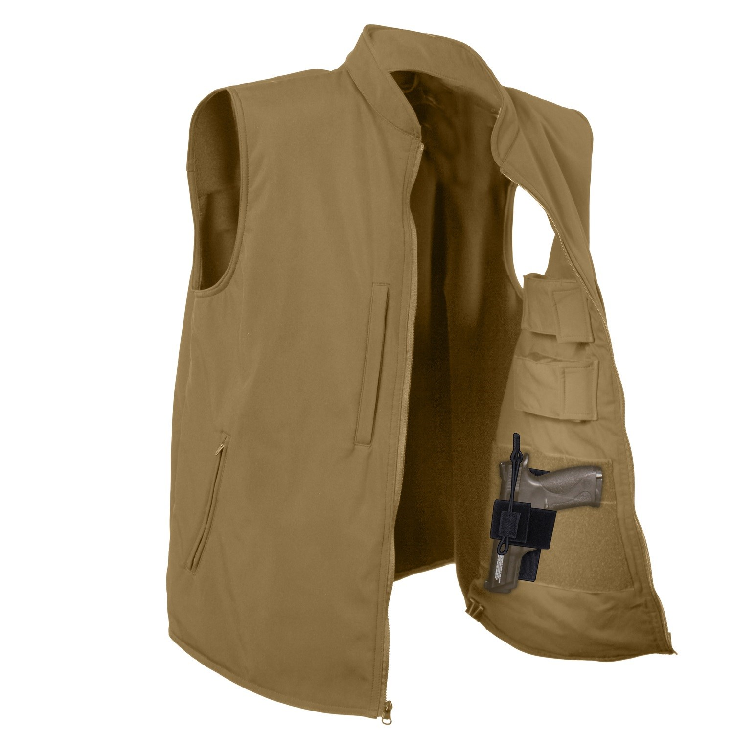 Vesta Concealed CARRY softshell COYOTE BROWN