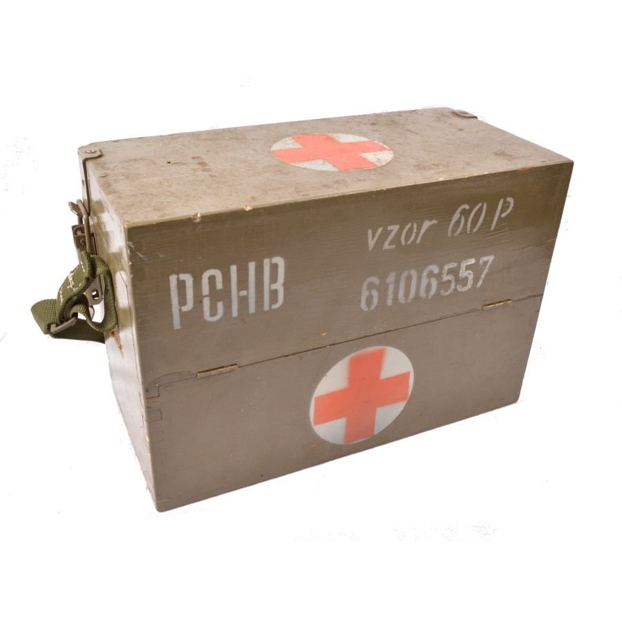 Debna drevená zdravotné s popruhom cez rameno AČR