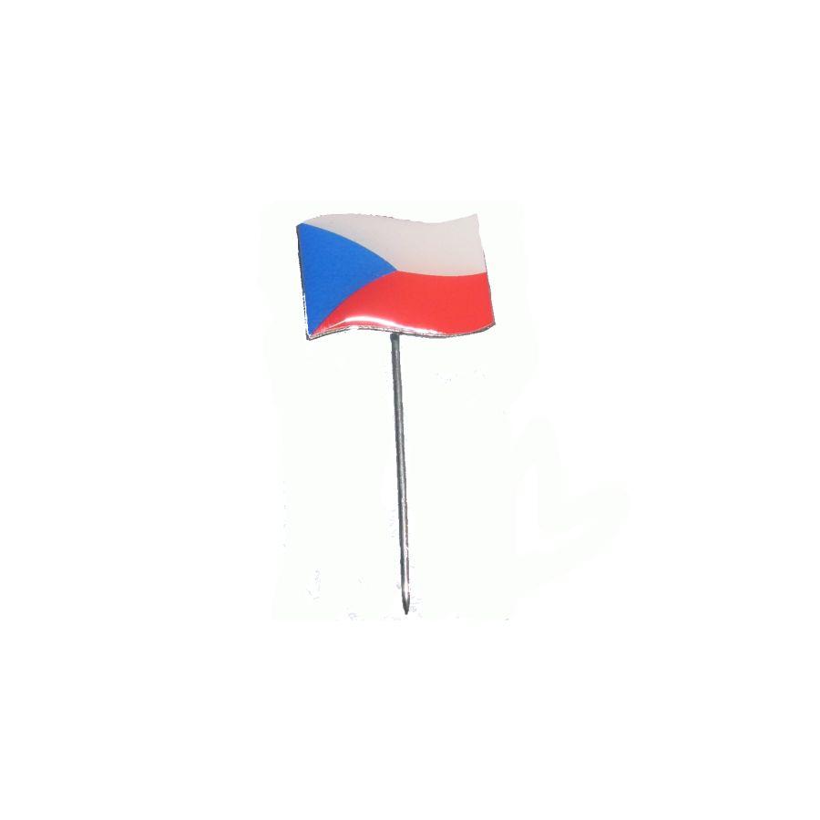 Odznak vlajúce štátna vlajka ČR farebná na špendlíka