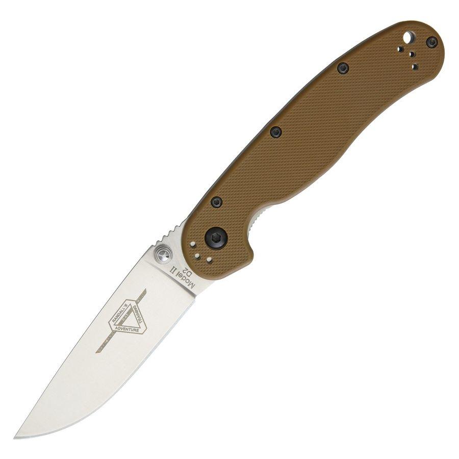 Nôž zatvárací RAT II D2 COYOTE BROWN