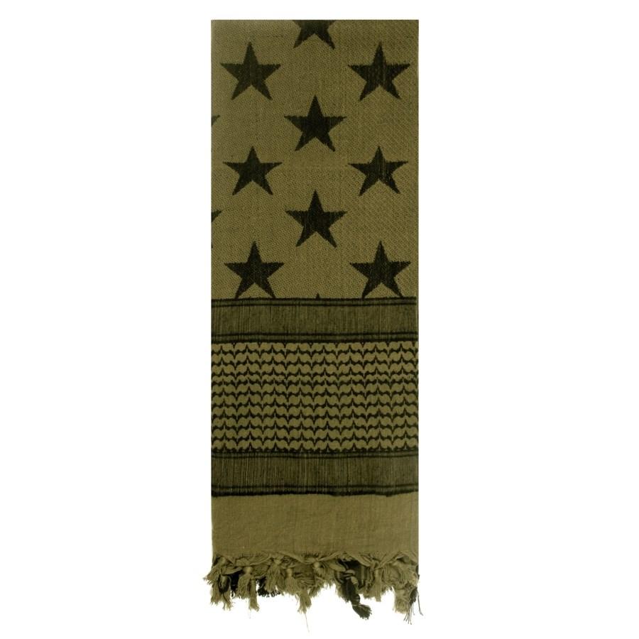 Šatka SHEMAGH vlajka USA - hviezdy a pruhy ZELENÝ