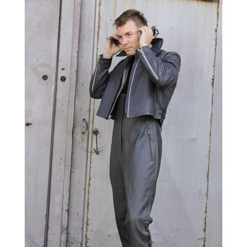 Nohavice BW U-BOOT kožené s trakmi ŠEDÉ použité