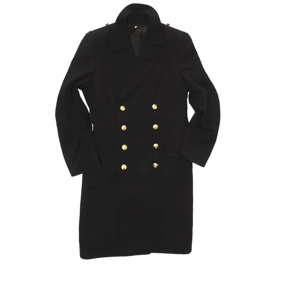 Kabát NAVY BW so zlatými gombíkmi MODRÝ
