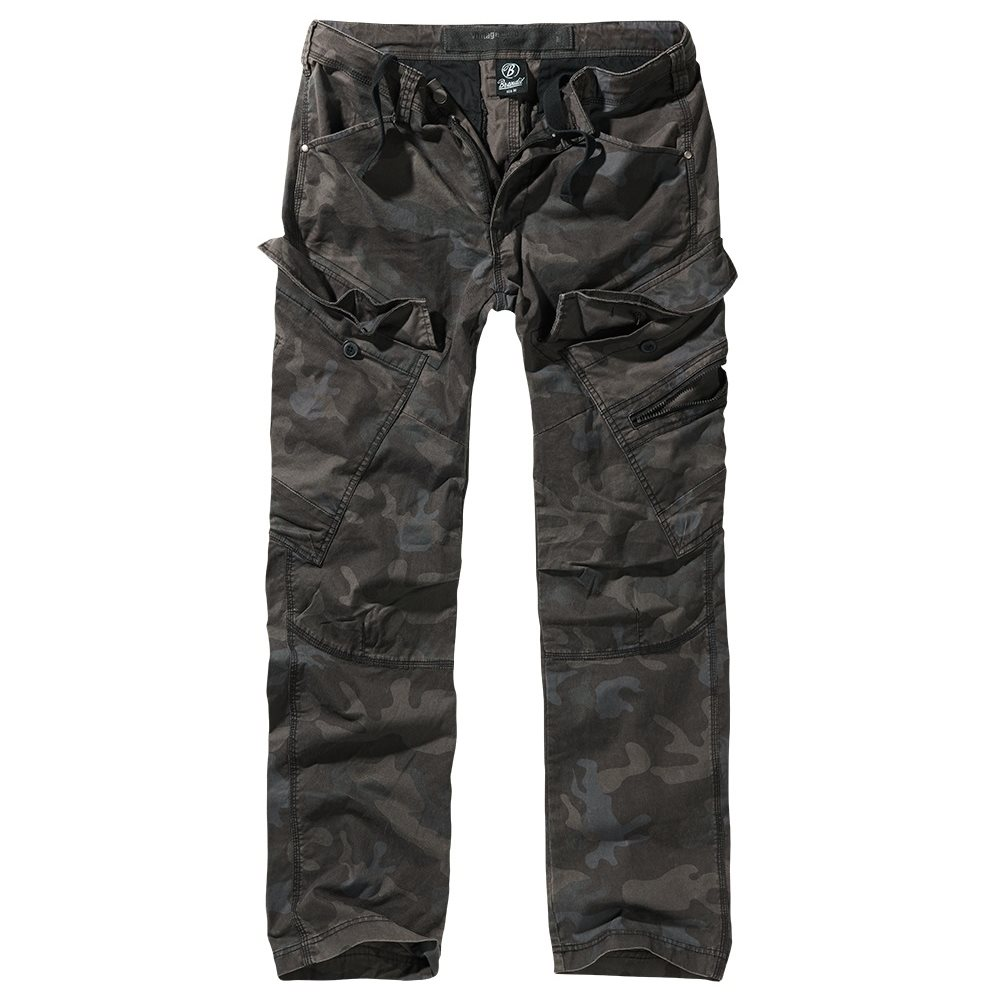 Nohavice ADVEN SLIM FIT DARK CAMO