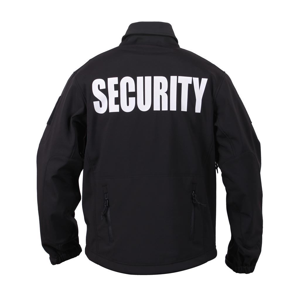 Bunda SECURITY s kapucňou softshell ČIERNA ROTHCO 97670 L-11